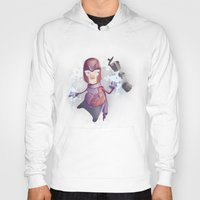 magneto Hoodies featuring Magneto Kaffee Time by Emilio Rizzo