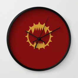 Warhammer 40k World Eaters Minimalist Print Wall Clock