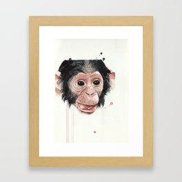 Baby monkey Framed Art Print