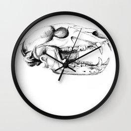 Bear Skull Wall Clock