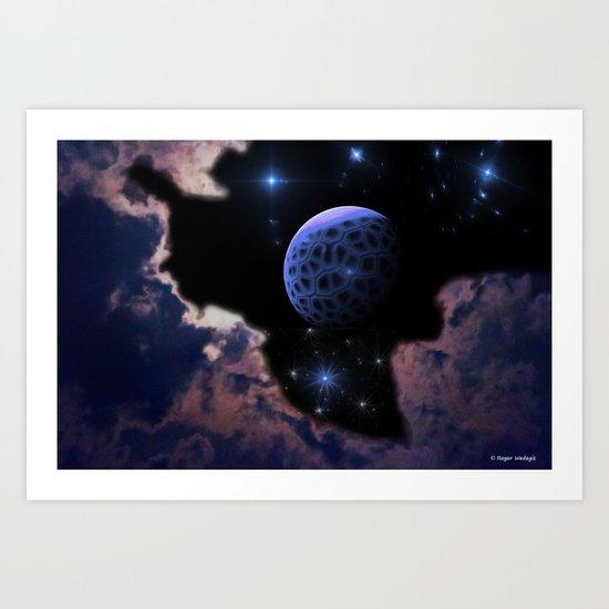 Strange Moon Rising Art Print