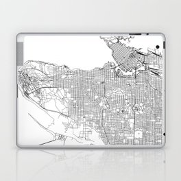 Vancouver White Map Laptop & iPad Skin