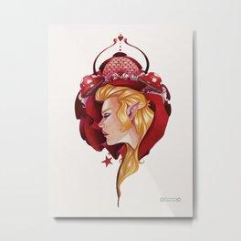 Red Fairy Metal Print