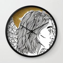 Golden Lady Wall Clock