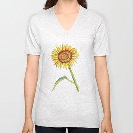 Watercolour Sunflower  Unisex V-Neck