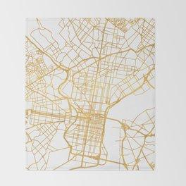 PHILADELPHIA PENNSYLVANIA CITY STREET MAP ART Throw Blanket