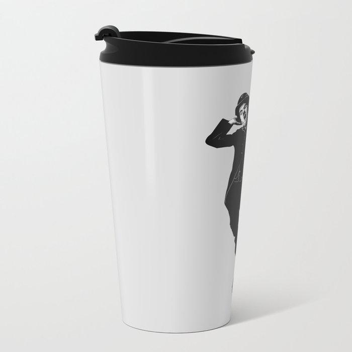 Gnarly Chaplin Metal Travel Mug