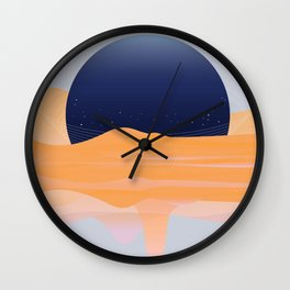 FULL -OF-FLOYD MOON / ORANGE Wall Clock