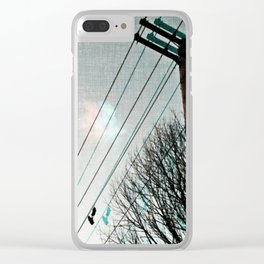 hanging by a string Clear iPhone Case