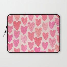 Pink Leaves Laptop Sleeve