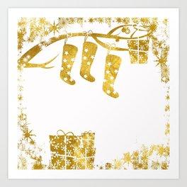 Gold Christmas 02 Art Print