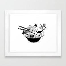 Noodle Wave Framed Art Print