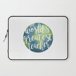 World's Greatest Teacher Laptop Sleeve