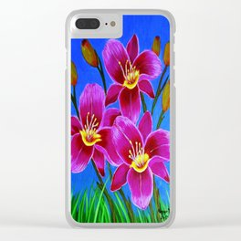 Day lilies Clear iPhone Case