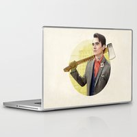 michigan Laptop & iPad Skins featuring Mr. Michigan by keith p. rein