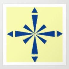 Blue Asterisk Art Print