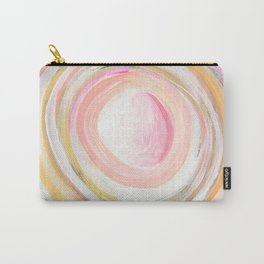 Pink Gold Circles Carry-All Pouch