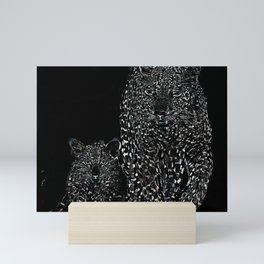 Big Cat Models: Magnified Snow Leopard and Cub 01-03 Mini Art Print