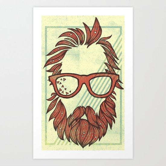 Beard and Shades Art Print