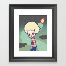 displaced person Framed Art Print