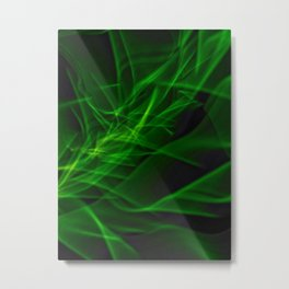 Glowstick Light painting Metal Print