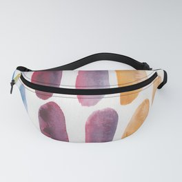 54 | 190330 Watercolour Abstract Brush Strokes Fanny Pack