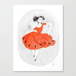 Nine ladies dancing Canvas Print