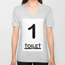TOILET CLUB #1 Unisex V-Neck