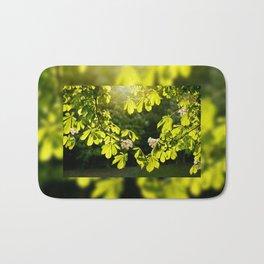 Flowering Aesculus horse chestnut foliage Bath Mat
