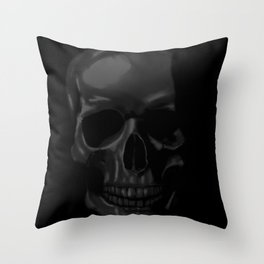 RIP Black Skull Throw Pillow