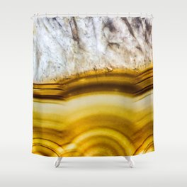 Amber Honey Agate Earth Shower Curtain