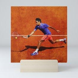 Roger Federer Tennis Chip Return Mini Art Print