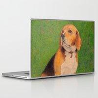 beagle Laptop & iPad Skins featuring Beagle by irshi