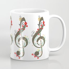 Floral sol key Coffee Mug