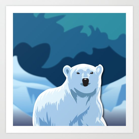 Lonely Polar Bear Art Print