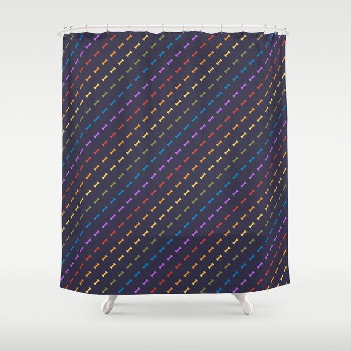 Rainbones Shower Curtain