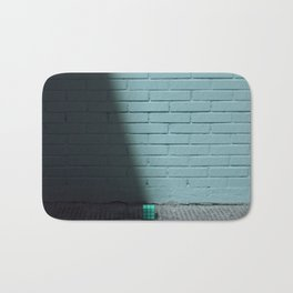 Blue and shady cube Bath Mat
