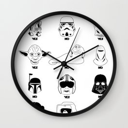 Stormtrooper Blaster Target Cheat Sheet Wall Clock