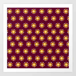 Snazzy Seminoles - Garnet & Gold FSU Print Art Print