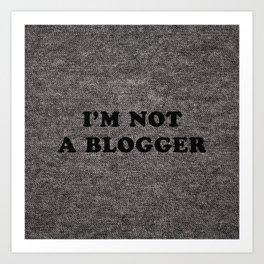 Blogger Art Print
