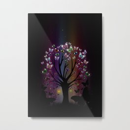 Butterfly Tree Metal Print