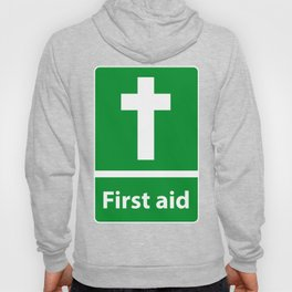 First Aid Cross - Christian Sign Illustration Hoody