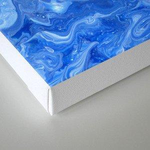 Blue Blues Lava Flow Canvas Print