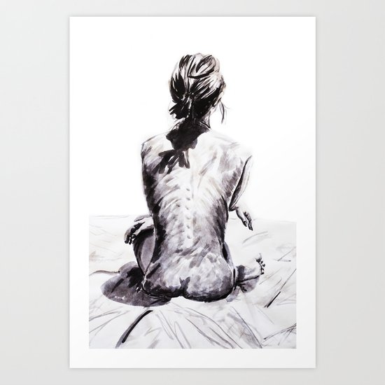 Back and Shadow Study Art Print