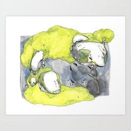 Moss Study with Wolf Print Art Print