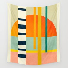 trees with tropical sun Wall Tapestry