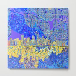 seattle city skyline Metal Print