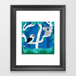 The Koala and the Kookaburra (version 2) Framed Art Print