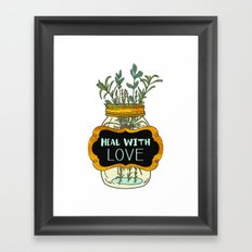 Heal With Love Framed Art Print