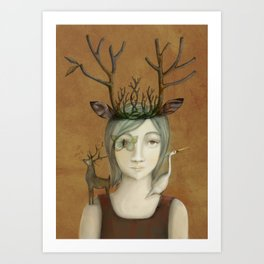 queen of the earth Art Print